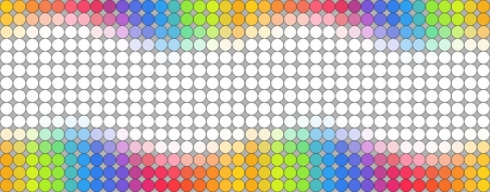 polkadot: Seamless multicolored dotted banner over grey background with empty space for your text Illustration