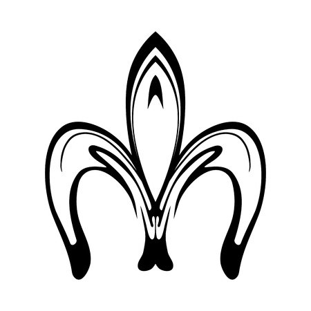 Abstract fleur de lis icon isolated on white background