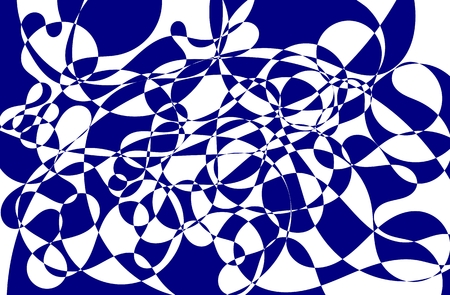 Abstract navy blue hand drawn scribble doodle chaos mosaic texture isolated over white background
