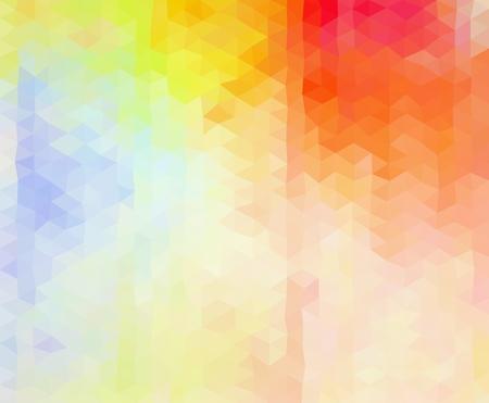 色とりどり鮮やかな幾何学的な三角形グラフィックの背景。低ポリ スタイル グラデーション