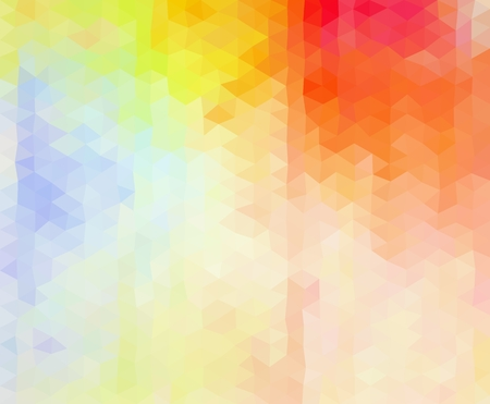 Multicolored  vibrant geometric triangular graphic background. Low poly style gradient