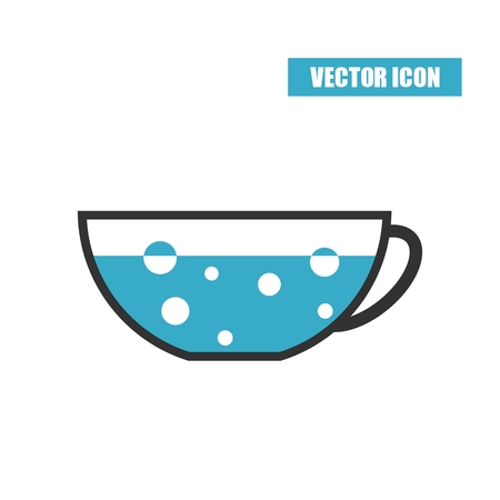 boiling: Cup with boiling water icon