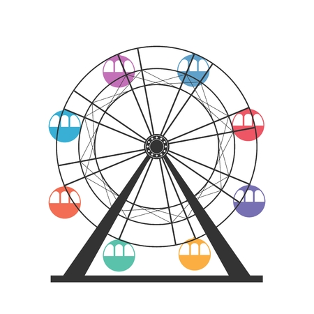 Ferris wheel icon Ilustração