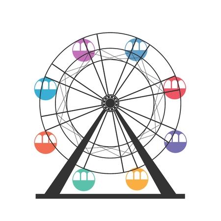 Ferris wheel icon Illustration