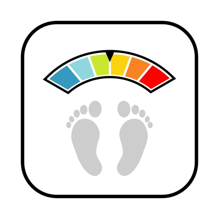 Floor scales icon isolated on white background Illustration