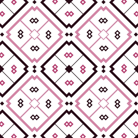 seamless mosaic pink tile pattern over white background