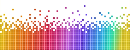 Pastel multicolored mosaic banner. Pixelated background Stock Photo