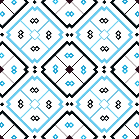 Mosaic background with seamless pattern in islamic style over white background Illustration