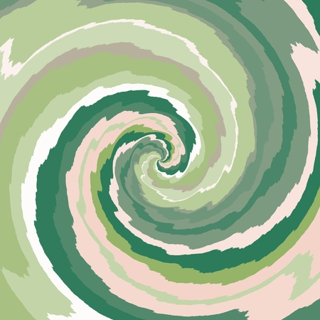 Abstract spiral background in green, rosy and white color