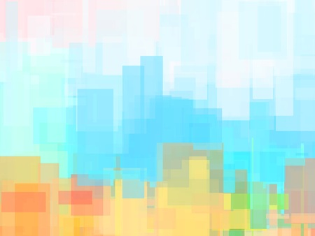 Abstract background or texture with geometric objects in soft pastel colors - purple, blue, orange and pale color 免版税图像