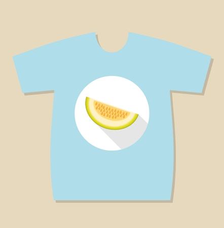 T-shirt print design with a Batata rising hands ready to hug. Sweet potato character Illustration
