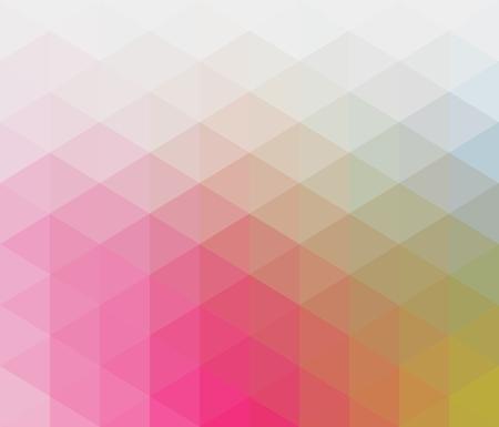 Patrón geométrico de color pastel suave con elementos triangulares en rojo, naranja, azul, verde, tonos pálidos Ilustración de vector