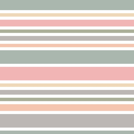 Abstract horizontal striped seamless pattern. Pastel colored background. Wrapping paper. Pattern for interior and fabric design. Retro or vintage style. Illustration