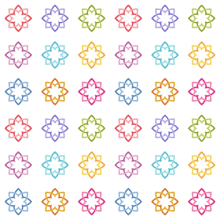 Abstract multicolored floral background or texture in ornamental style. Tileable seamless design. Pastel colored pattern