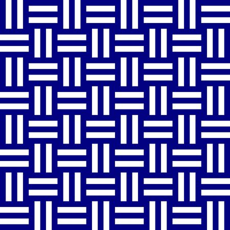 Modern weaved texture background. Seamless monochromatic pattern with navy blue and white stripes. Weaved texture background with optical illusion effect