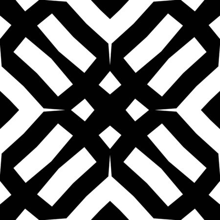 Seamless monochrome pattern tiling. Graphic modern backgroung. Black and white texture. Geometric tiling design