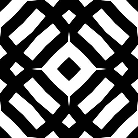 Seamless monochrome pattern with lines. Graphic modern backgroung. Black and white texture. Geometric tiling design
