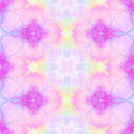 Abstract multicolored kaleidoscopic  background. Seamless pattern for wrapping papers and fabric or paper prints