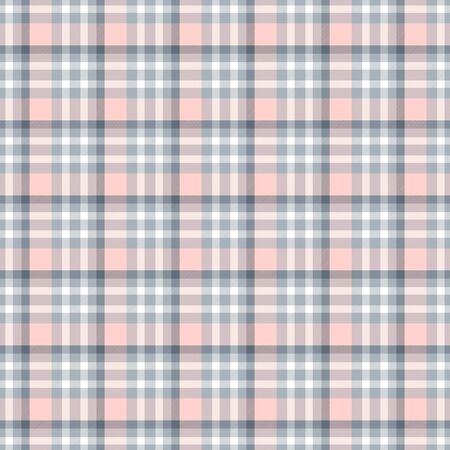 Motivo a quadretti geometrico senza soluzione di continuità. Sfondo astratto. Strisce blu, rosa, grigie e bianche. Motivo a scacchi per il campione