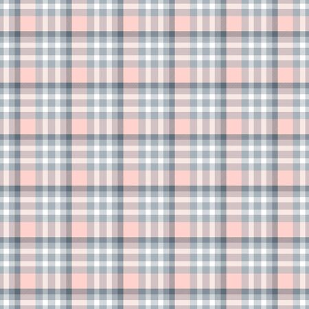 Seamless geometric gingham pattern. Abstract background. Blue, pink, grey and white stripes. Chequered pattern for swatch Banco de Imagens