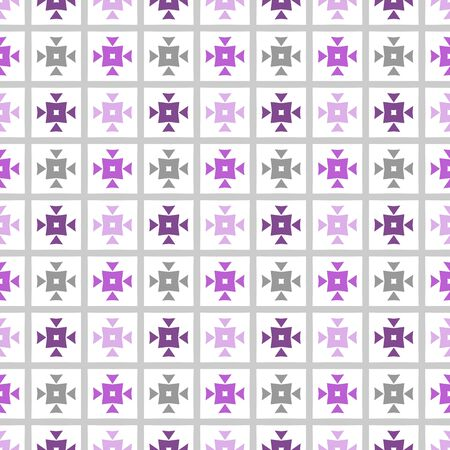 Seamless purple, grey and white geometric pattern. Modern background. Repeating stylish tiling, wrappping papers, wallpapers etc.