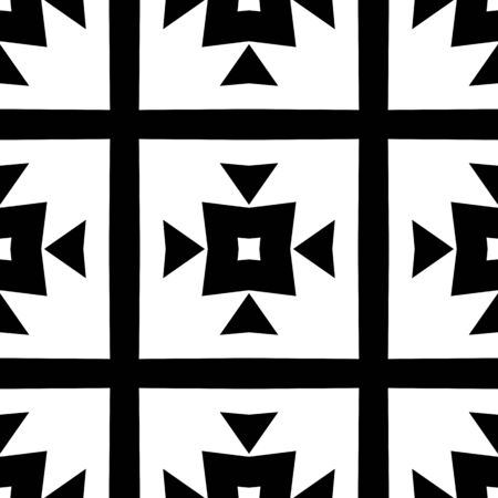 Seamless black and white geometric pattern. Modern background. Repeating stylish tiling, wrappping papers, wallpapers etc.