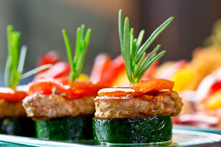 delicious finger food, catering dish, banquet snack or tapas