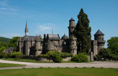 attraktion: Castle Loewenburg in the german city kassel