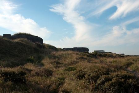 ijmuiden: Old world war II bunker in IJmuiden a netherland city