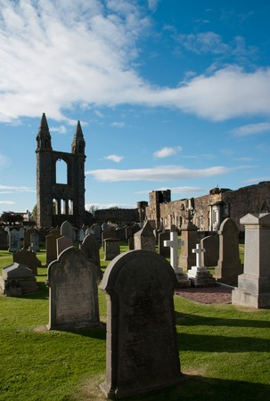 Ruins of St. Andrews in Scotland
