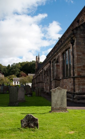outside from the Dunblane cathedral in scotland Stock Photo
