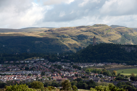 craig: View at the wallace monument in stirling, scotland Stock Photo