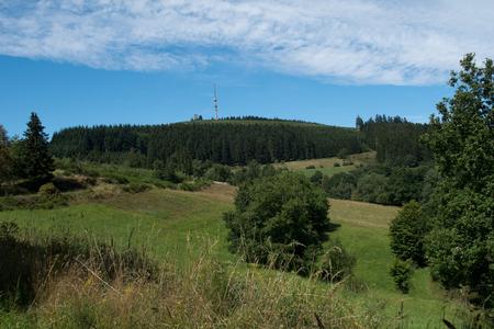 산 Bollerberg, 거의 Winterberg, 독일 풍경 스톡 콘텐츠