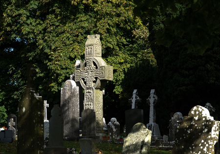 spirituell: Monasterboice in Irland