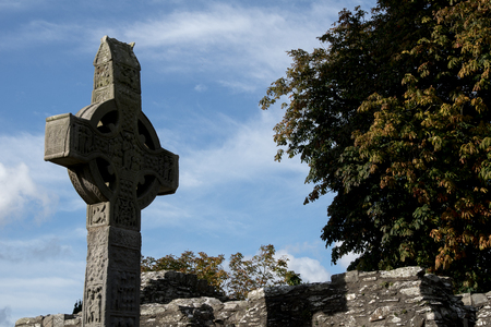 Monasterboice in Ireland Stock Photo