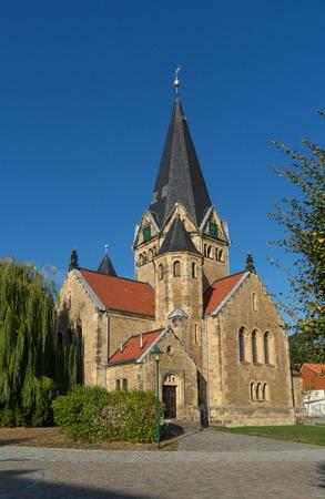 Church of the german village Benzingerode in the region Harz Stock Photo