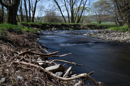 Time exposure of the river Nuhne at spring