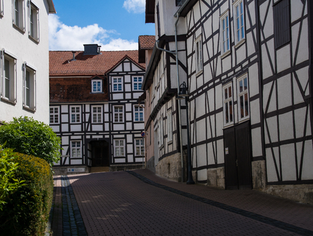 Half timbered houses in the german city Korbach