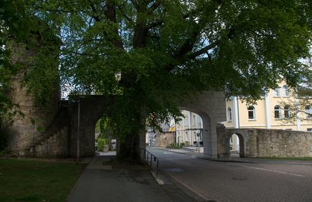 City entry called Enser Tor in the german city Korbach