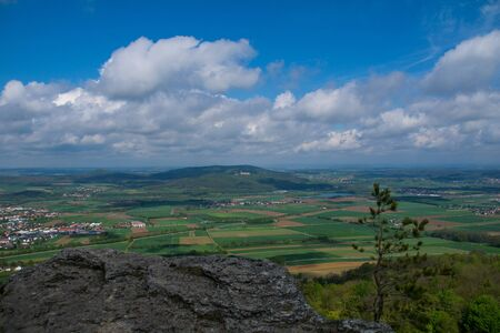 View from the mountain Staffelberg to cloister Banz