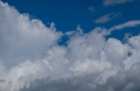 blue sky background with clouds panorama Stock Photo