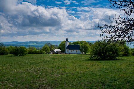 Mountain Staffelberg with the chapel Adelgundis