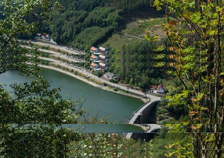 Lake called Diemelsee in germany