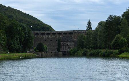Dam building of the german lake called Diemelsee