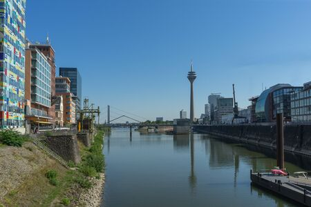 View from Media Harbour in the german city Duesseldorf