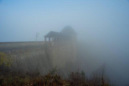 Dam wall at the german lake called Edersee