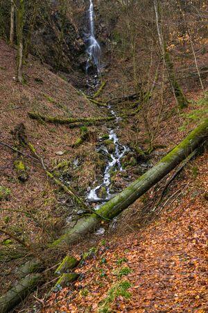 Waterfall called Plaesterlegge near the german city Bestwig