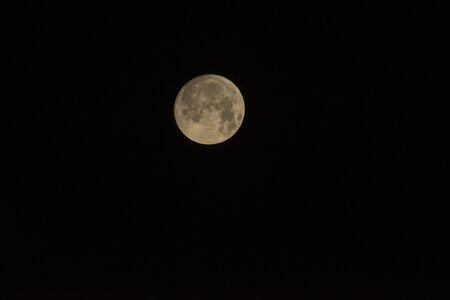 Full moon on the dark night in autumn Stockfoto