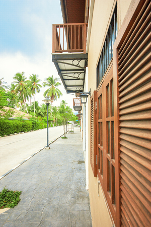 tropics: Country house with road in the tropics