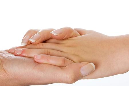 Handen vasthouden Stockfoto